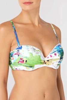 Haut de bikini bandeau imprimé