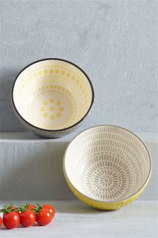 Set Of 2 Pad Print Bowls