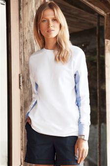 Shirt Back Sweater