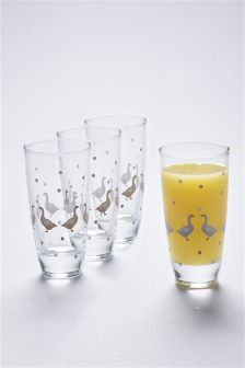 Set Of 4 Goose High Ball Glasses