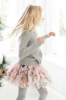 Printed Tulle Skirt (3-16yrs)