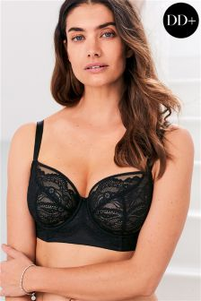 DD+ Lizzie Non Padded Wired Lace Balcony Bra