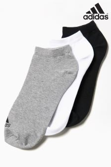 adidas Black/White/Grey Lightweight Socks Three Pack