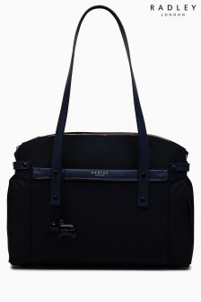 Radley Ink Navy River Street Large Multi Compartment Tote Bag