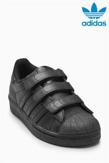 adidas Black Velcro Superstar