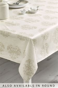 Natural Heart Wipe Clean PVC Tablecloth