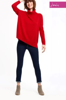 Joules Red Roll Neck Rolanda Jumper