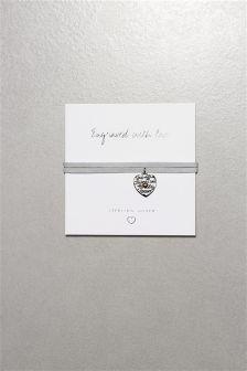 Friendship Engraved Cord Detail Bracelet