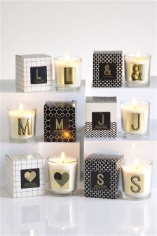 White Jasmine Fragranced Initial Candle