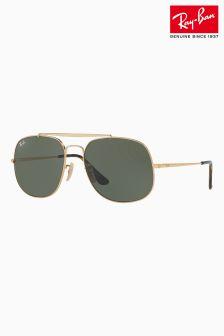 Ray-Ban® Black Gold General Aviator Sunglasses