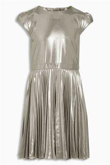 Foil Pleated Dress (3-16yrs)
