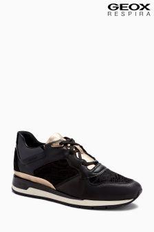 Czarne buty sportowe Geox D Shahira