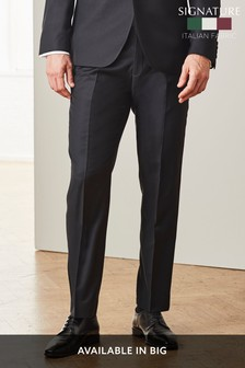 Signature Textured Tuxedo Tailored Fit Suit: Trousers