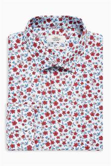 Ditsy Print Slim Fit Shirt
