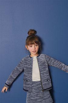 Tweed Effect Pearl Jacket (3-16yrs)