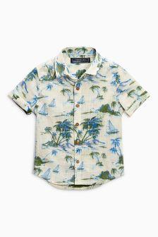 半袖プリントシャツ (3 か月~6 歳)
