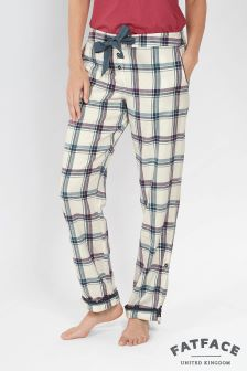 Fat Face Ivory Ginny Grid Check Pant