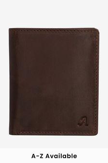 Кожаный бумажник с монограммой