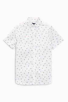 Short Sleeve Geo Print Shirt (3-16yrs)