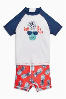 Pineapple Swim Shorts And Vest Two Piece Set (3mths-6yrs)
