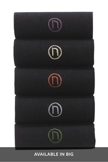 N Logo Embroidered Socks Five Pack