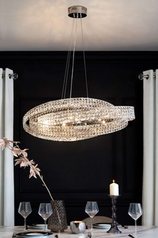Lighting ceiling lights clear ceilinglights next ireland venetian 10 light oval pendant mozeypictures Choice Image