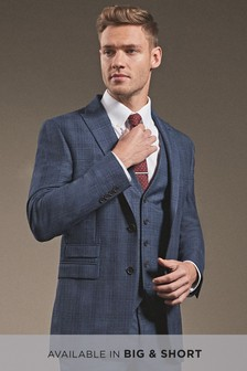 Check Tailored Fit Suit: Jacket