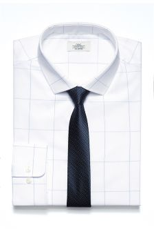 Large Check Slim Fit Shirt And Tie Set