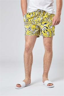 Leaf Print Swim Shorts