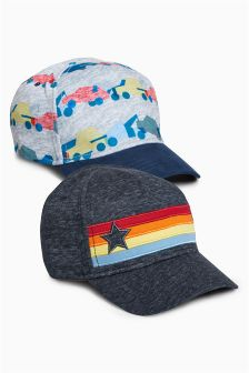 Rainbow/Car Caps Two Pack (Younger Boys)
