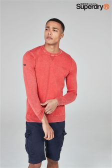 Superdry Garment Dyed Crew Knit