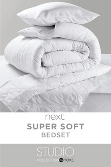 Complete Duvet Pillow And Mattress Protector Set Studio Collection By Next