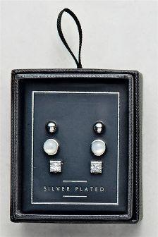 Stud Earrings Three Pack