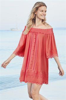 Broderie Beach Dress