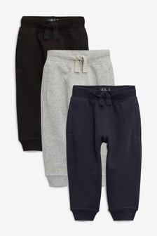 Pack de tres pantalones de chándal básicos (3 meses-6 años)