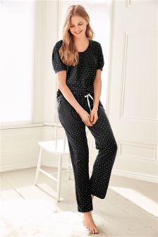 Pyjama met microsterrenprint