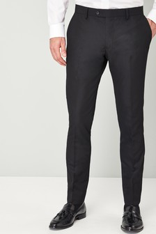 Textured Skinny Fit Suit Trousers
