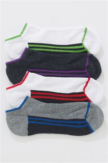 Footbed Trainer Socks Four Pack