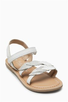 Leather Leaf Sandals (Younger Girls)