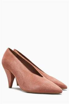 Leather Cone Heel Courts