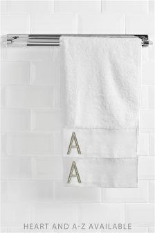 Gold Initial Hand Towel