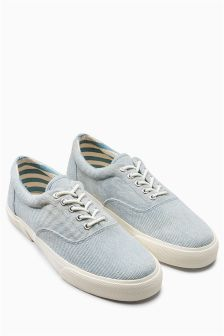 Washed Canvas Pump