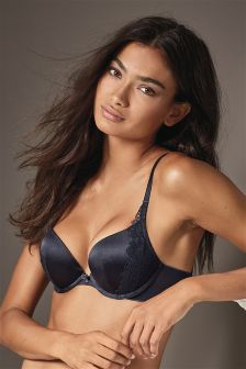 Signature Cara Push Up Plunge Bra with Silk