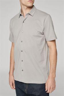 Трикотажная рубашка с коротким рукавом