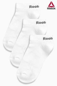 طقم ثلاثة جوارب بيضاء من Reebok