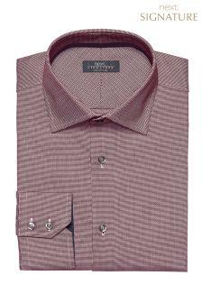 Signature Textured Weave Slim Fit Shirt