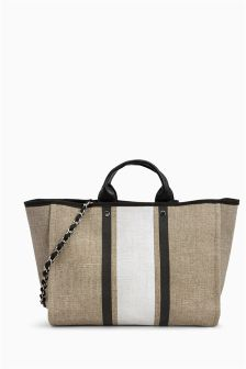 Bolso de playa de rayas