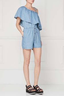 Frill One Shoulder Playsuit