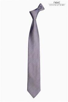 Коллекционный галстук из итальянской ткани с рисунком