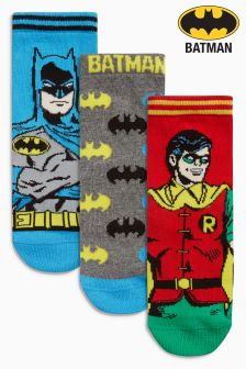 Batman And Robin Three Pack Socks (Older Boys)